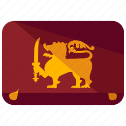asia, country, flag, lanka, location, map, sri icon
