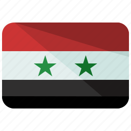 asia, country, flag, location, map, nation, syria icon