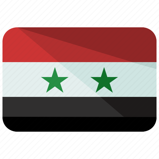 country, flag, syria icon