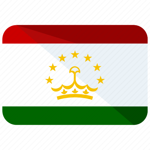 asia, country, flag, location, map, tajikistan, world icon