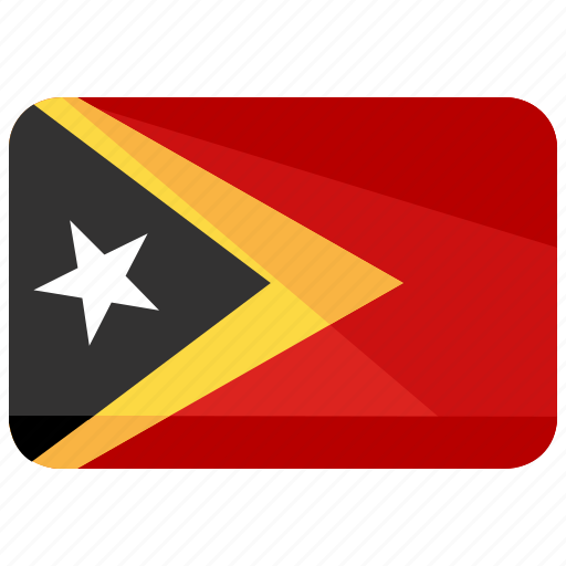 country, flag, leste, timor icon