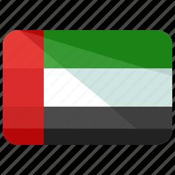 arab, country, emirates, flag, map, united, world icon