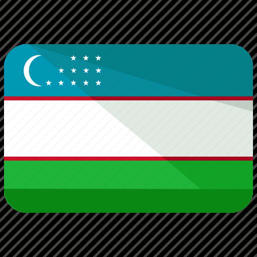 country, flag, uzbekistan icon