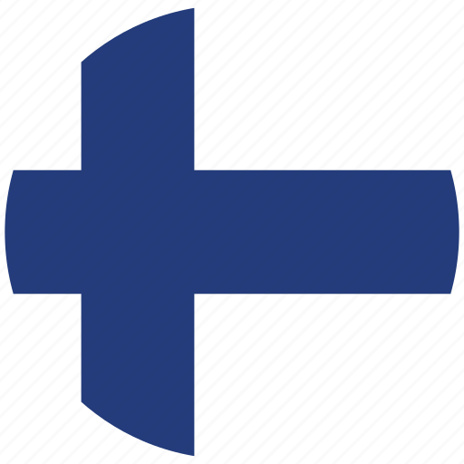 finland, finland's circled flag, finland's flag, flag of finland icon
