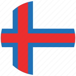 flag of foroe island, foroe island, foroe island's circled flag, foroe island's flag icon
