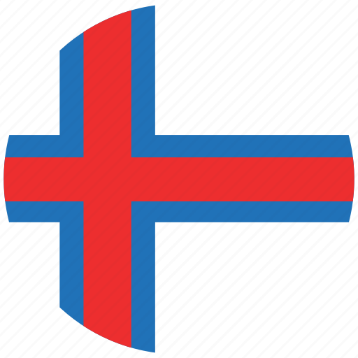 flag of foroe island, foroe island, foroe island's circled flag, foroe island's flag icon