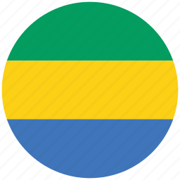 flag of gabon, gabon, gabon's circled flag, gabon's flag icon