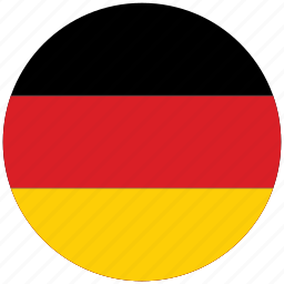 flag of germany, germany, germany's circled flag, germany's flag icon