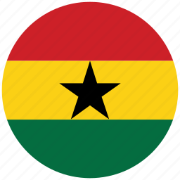 flag of ghana, ghana, ghana's circled flag, ghana's flag icon