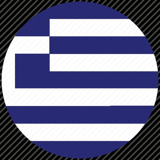 flag of greece, greece, greece's circled flag, greece's flag icon
