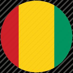 flag of guinea, guinea, guinea's circled flag, guinea's flag icon