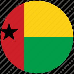 flag of guinea bissau, guinea bissau, guinea bissau's circled flag, guinea bissau's flag icon