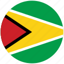flag of guyana, guyana, guyana's circled flag, guyana's flag icon