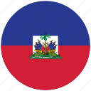 flag of haiti, haiti, haiti's circled flag, haiti's flag icon