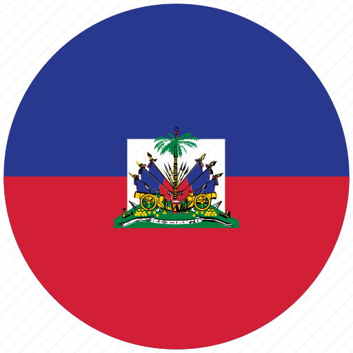 flag of haiti, haiti, haiti's circled flag, haiti's flag icon