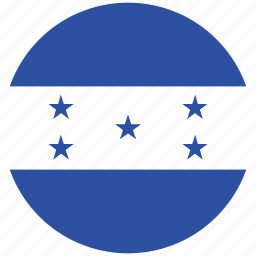 flag of honduras, honduras, honduras's circled flag, hondurus's flag icon