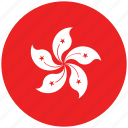 flag of hong kong, hong kong, hong kong's circled flag, hong kong's flag icon