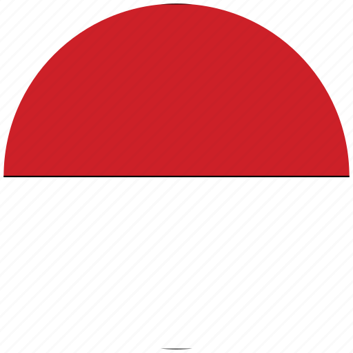 flag of indonesia, indonesia, indonesia's circled flag, indonesia's flag icon
