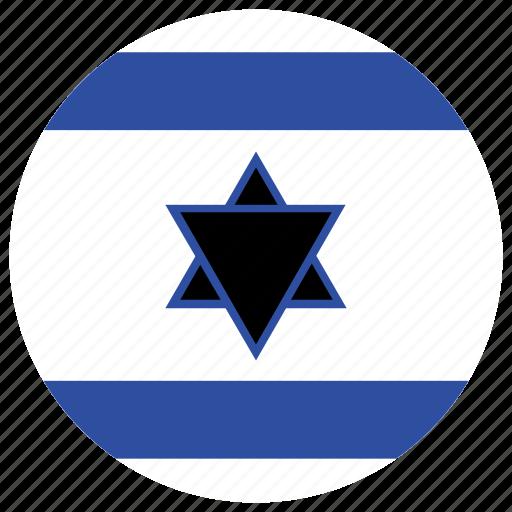 flag of israel, israel, israel's circled flag, israel's flag icon