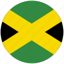 flag of jamaica, jamaica, jamaica's circled flag, jamaica's flag icon