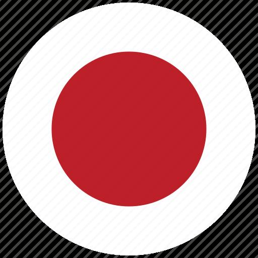 flag of japan, japan, japan's circled flag, japan's flag icon
