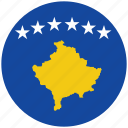 flag of kosovo, kosovo, kosovo's circled flag, kosovo's flag icon