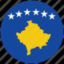 flag of kosovo, kosovo, kosovo's circled flag, kosovo's flag icon