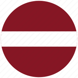 flag of latvia, latvia, latvia's circled flag, latvia's flag icon