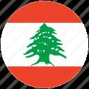 flag of lebanon, lebanon, lebanon's circled flag, lebanon's flag icon
