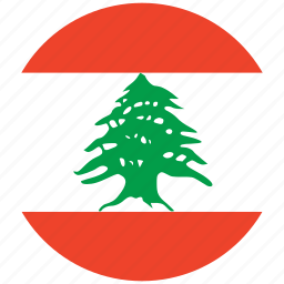 flag of lebanon, lebanon, lebanon's circled flag, lebanon's flag icon