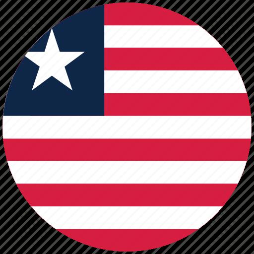 flag of liberia, leberia's circled flag, leberia's flag, liberia icon