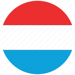 flag of luxembourge, luxembourg, luxembourg's flag, luxenbourg's circled flag icon
