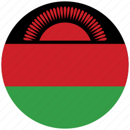 flag of malawi, malawi, malawi's circled flag, malawi's flag icon