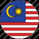 flag of malaysia, malaycia's flag, malaysia, malaysia's circled flag icon
