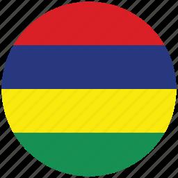 flag of mauritius, mauritius, mauritius's circled flag, mauritius's flag icon