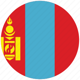 flag of mongolia, mongolia, mongolia's circled flag, mongolia's flag icon