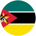 flag of mozambique, mozambique, mozambique's circled flag, mozambique's flag icon