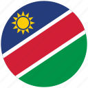 flag of namibia, namibia, namibia's circled flag, namibia's flag icon