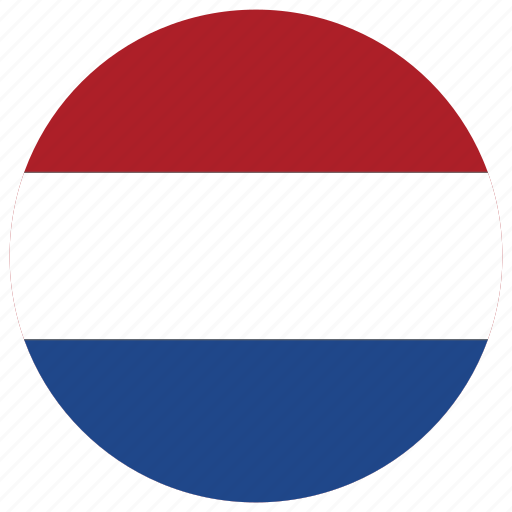 flag of netherlands, netherlands, netherlands's circled flag, netherlands's flag icon