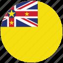 flag of niue, niue, niue's circled flag, niue's flag icon