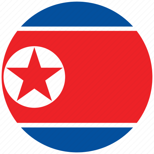 flag of north korea, north korea, north korea's circled flag, north korea's flag icon