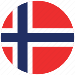 flag of norway, norway, norway's circled flag, norway's flag icon