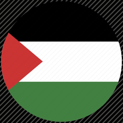 flag of palestine, palestine, palestine's circled flag, palestine's flag icon