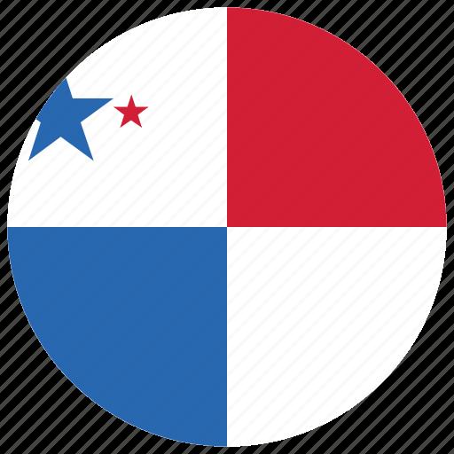 flag of panama, panama, panama's circled flag, panama's flag icon