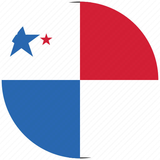 flag of panama, panama, panama's circled flag, panama's flag icon