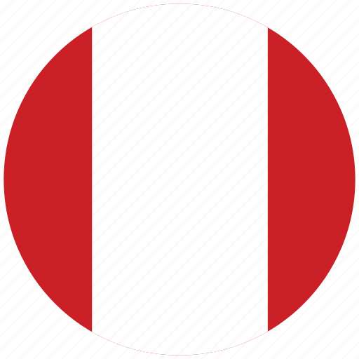 flag of peru, peru, peru's circled flag, peru's flag icon