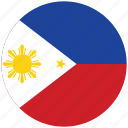 flag of philippines, philippines, philippines's circled flag, philippines's flag icon
