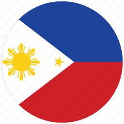 flag of philippines, philippines, philippines's circled flag, philippines's flag icon