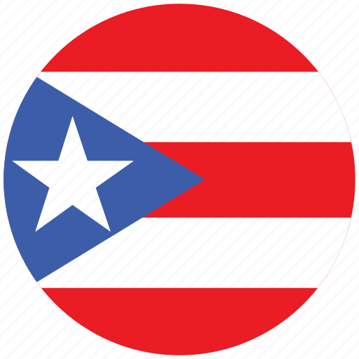 flag of puerto, puerto, puerto's circled flag, puerto's flag icon