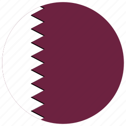 flag of qatar, qatar, qatar's circled flag, qatar's flag icon